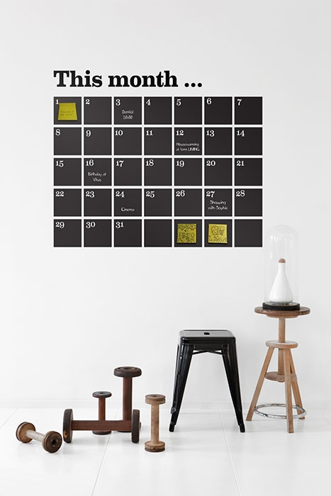 calendar wall sticker alternative calendar