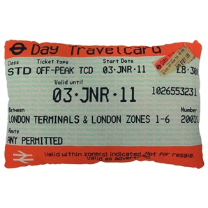 Travelcard cushion