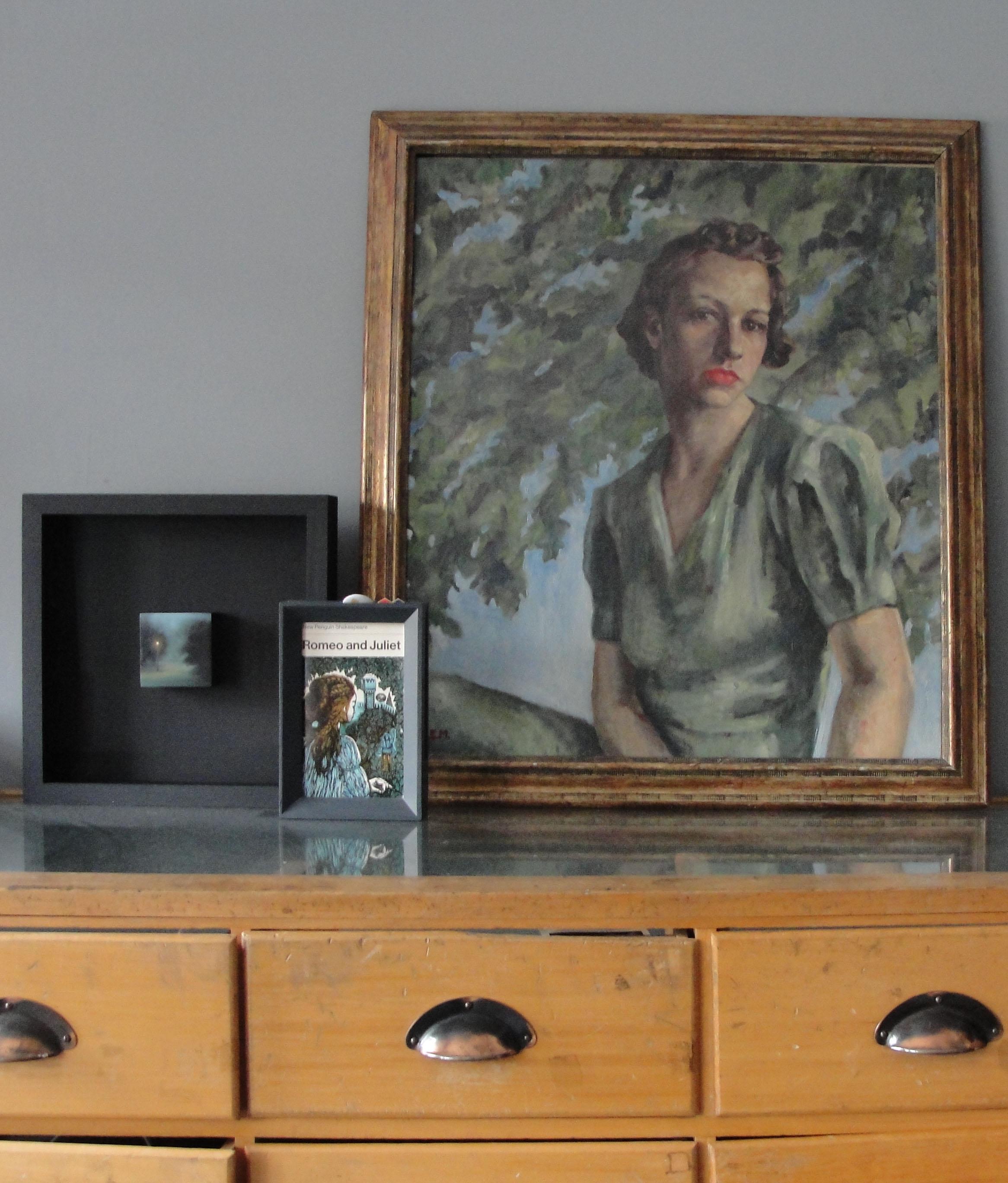 Art display on cabinet
