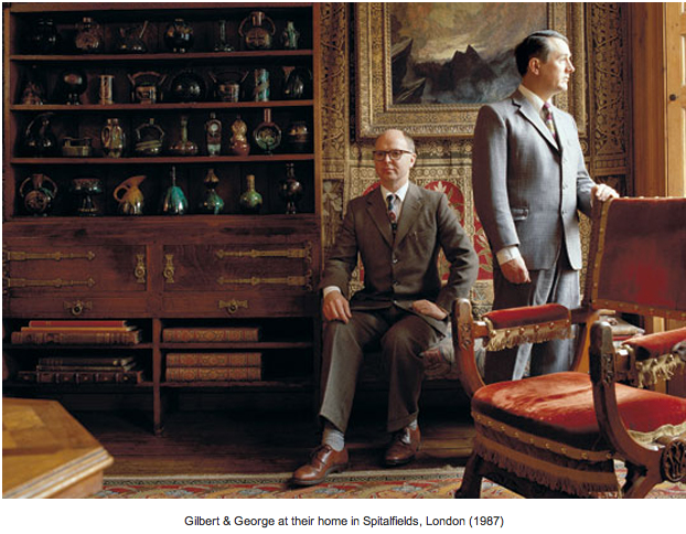 Gilbert and George at home