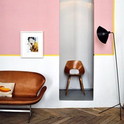 Colour blocking walls