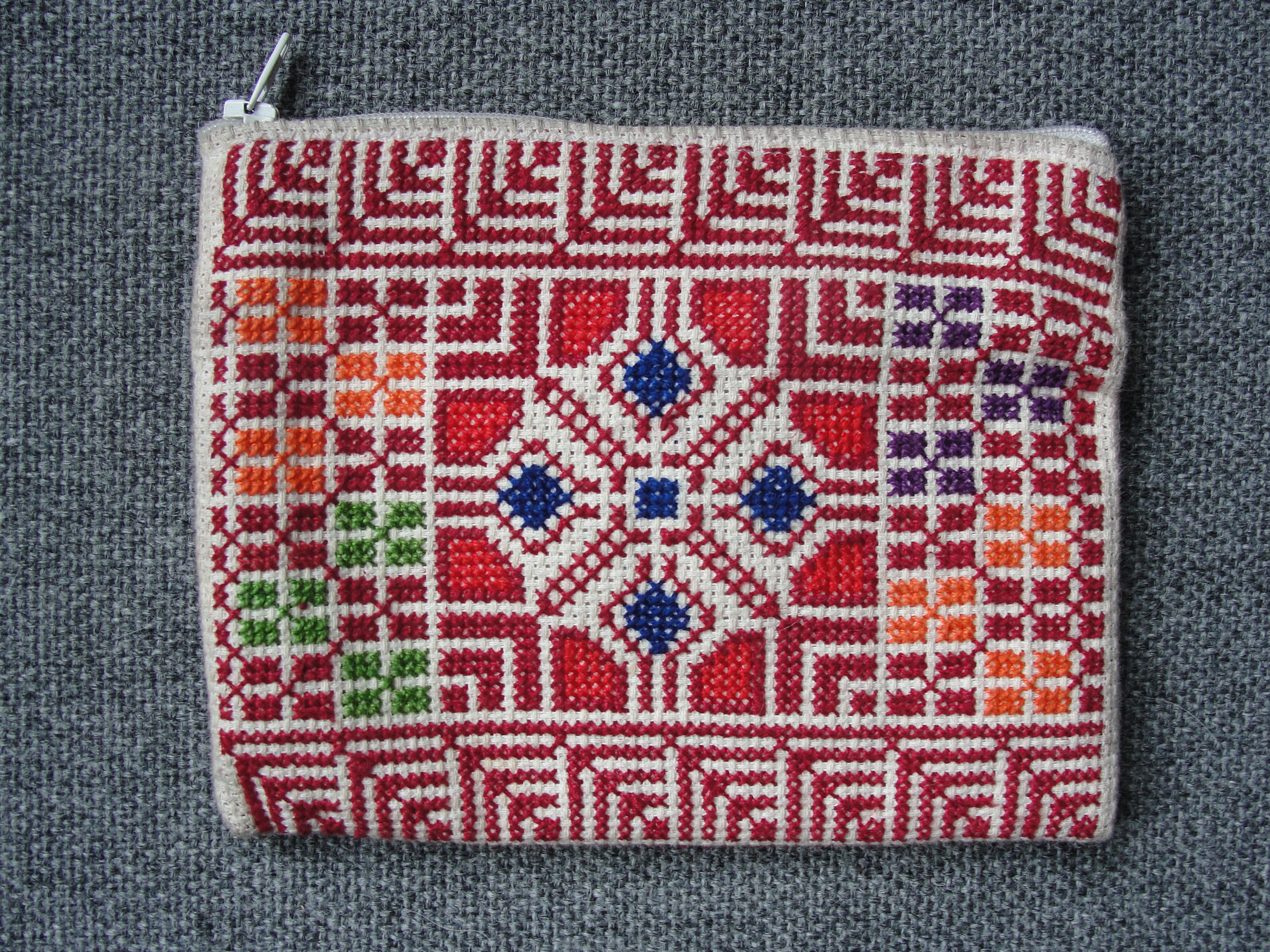 Embroidered purse | The Bethlehem Arab Women's Union