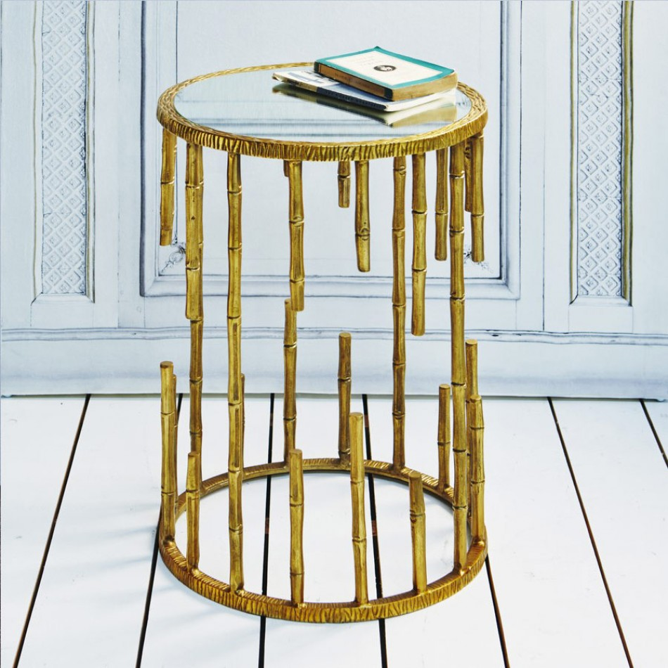 Boom bamboo trend alert my friend 39 s house for Bamboo side table