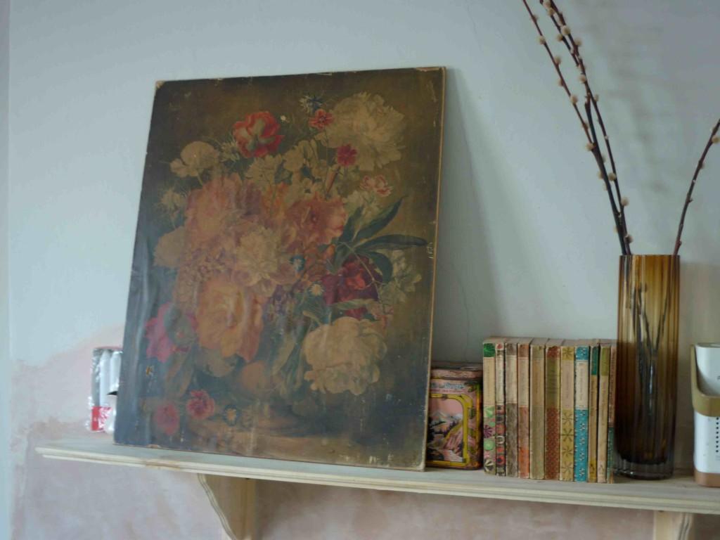 vintage flowers painting