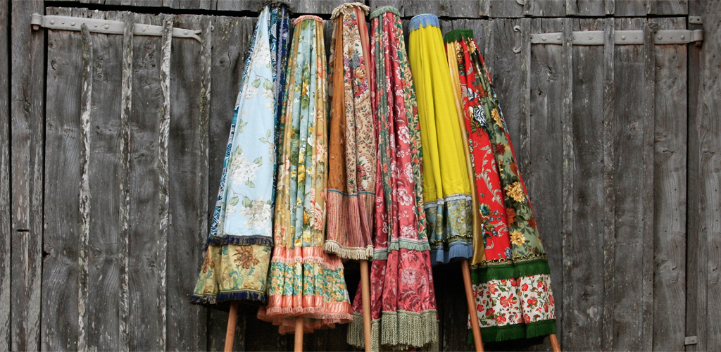 Sunbeam Jackie | Vintage fabric parasols | My Friend's House