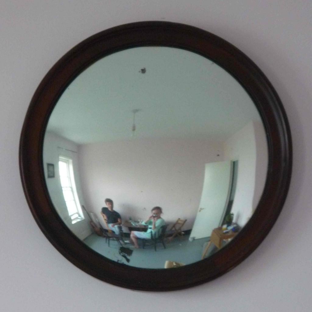 vintage convex mirror