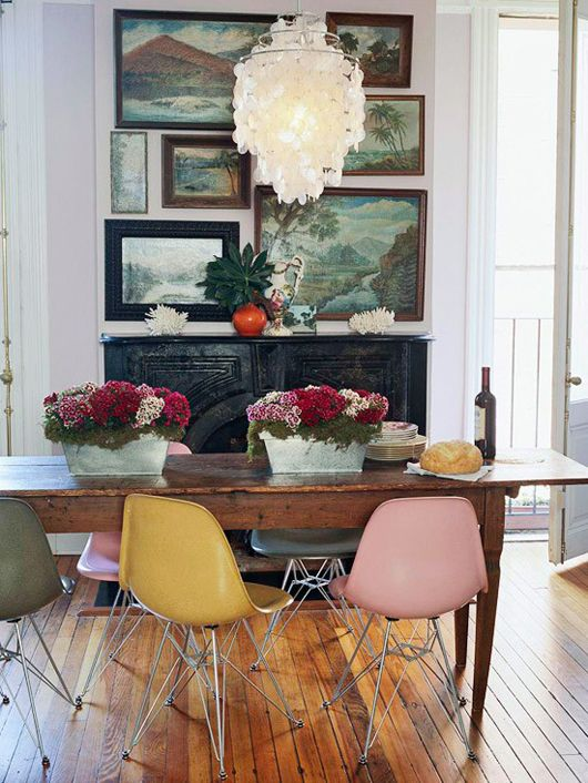 pink eames shell chair