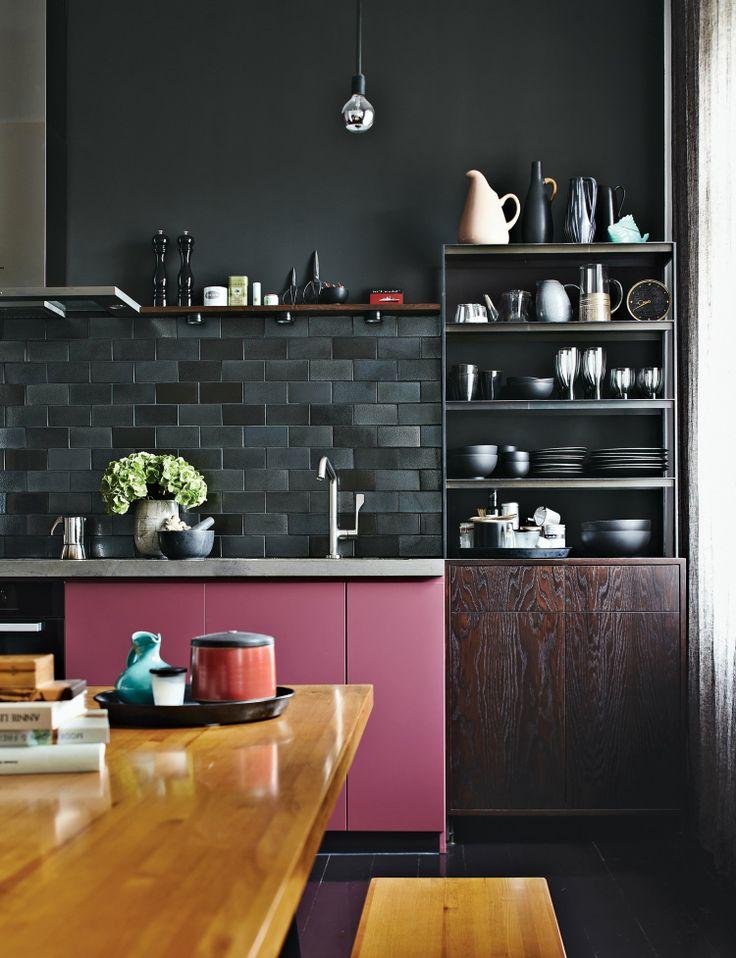 Mismatched kitchen |Pink interiors | My Friend's House