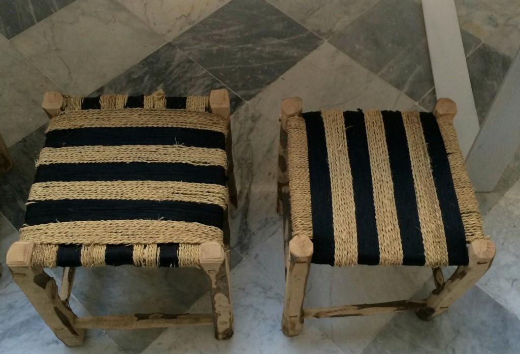 wicker stools  Sidi Bou Said  My Friend's House