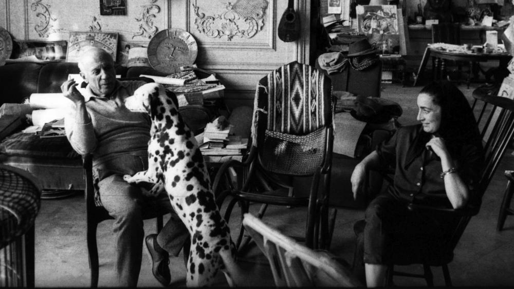 Picasso in the studio | Picasso and dalmation | My Friend's House