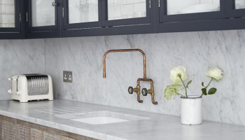 brass kitchen taps