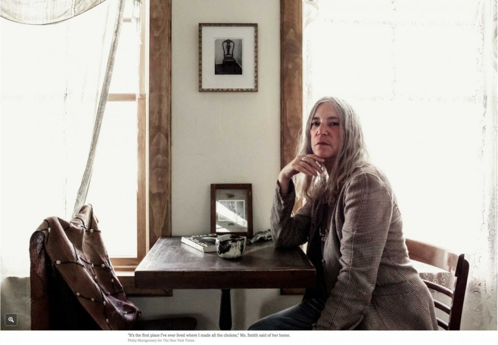 Patti Smith at home