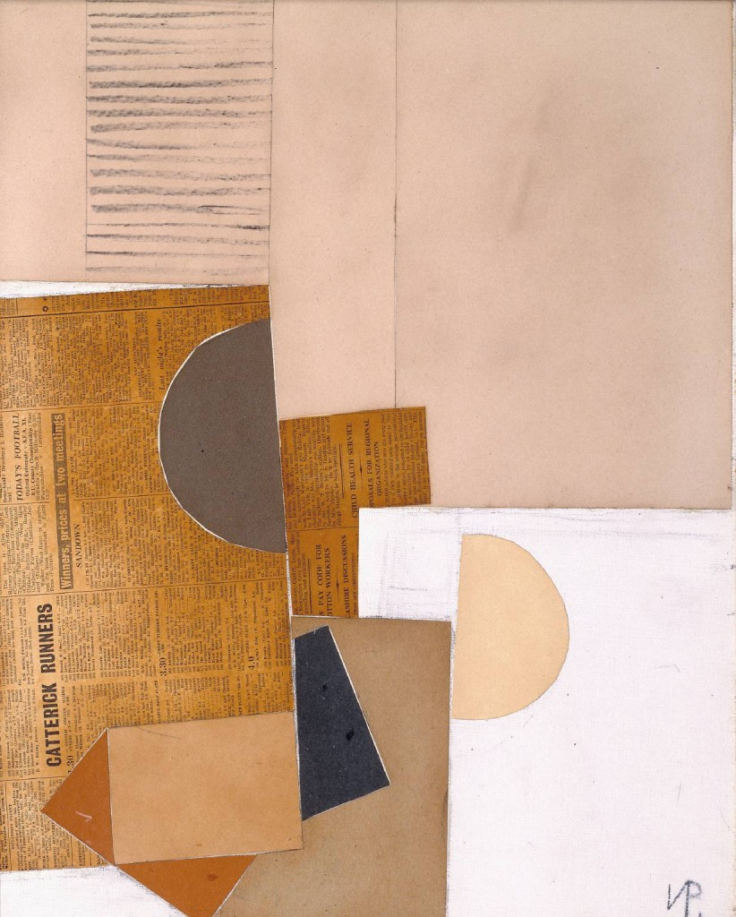 Abstract in White, Grey and Ochre 1949 by Victor Pasmore 1908-1998
