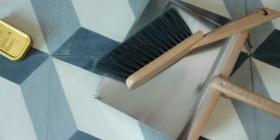 horsehair dustpan and brush
