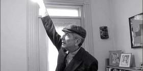 Leonard Cohen at home