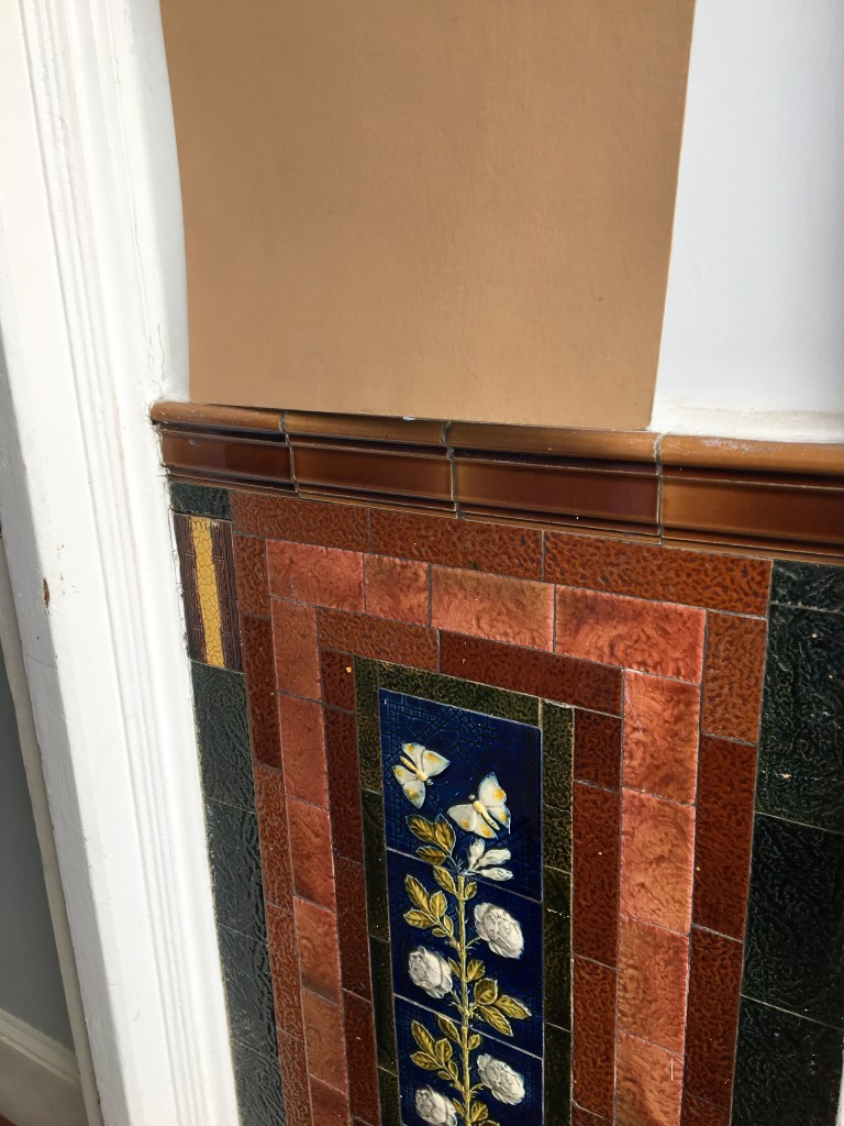 Tiles with brown