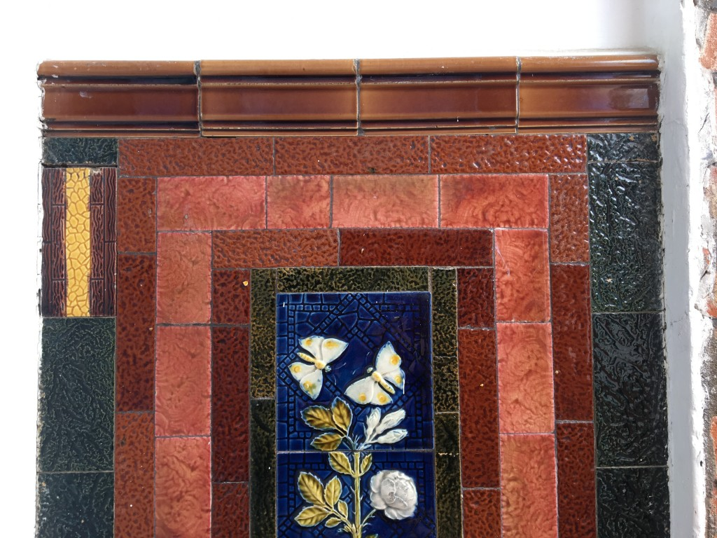 Victorian tiles close up