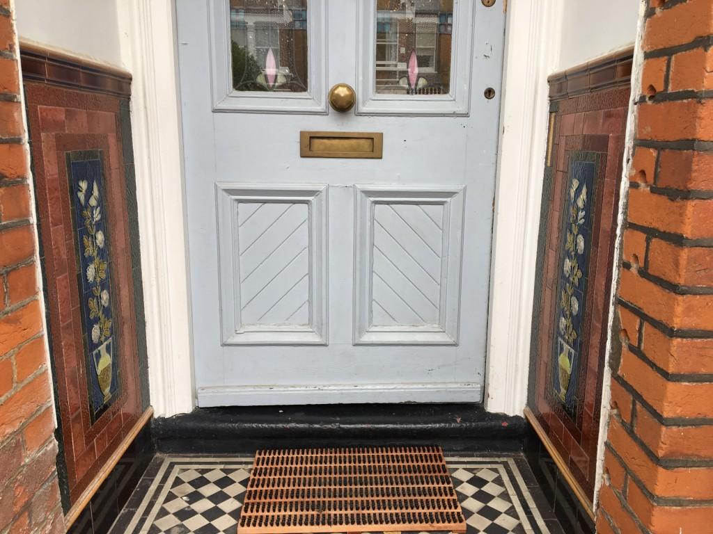 door and tiles