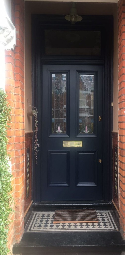 Navy blue front door | My Friend's House